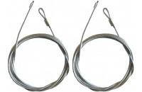 Kabel 3mm Durchmesser mit Schleife (Paar)
