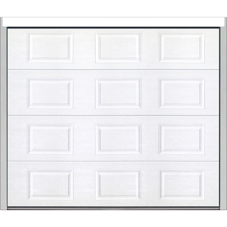 Porte sectionnelle cassette aspect bois blanche - Porte garage sectionnelle motorisee ...