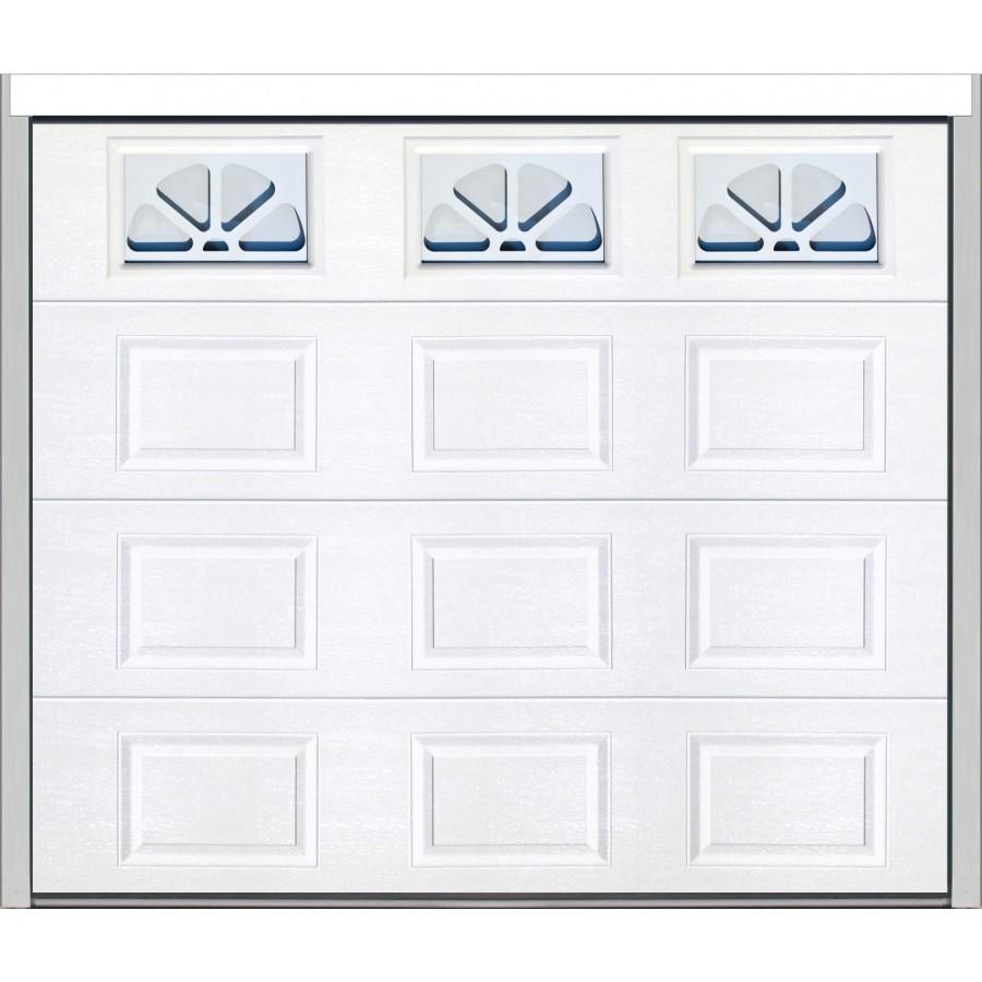 Porte sectionnelle cassette aspect bois blanche for Porte de garage sectionnelle isolante