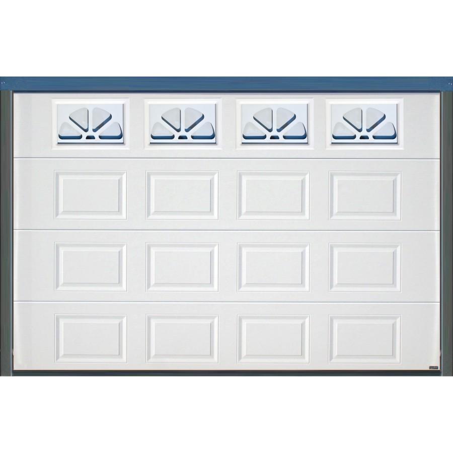 Porte sectionnelle cassette aspect bois blanche - Porte de garage basculante a cassette ...