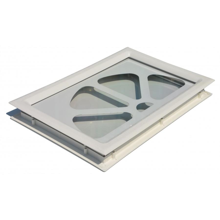 Porte sectionnelle cassette aspect bois blanche for Porte de service isolante