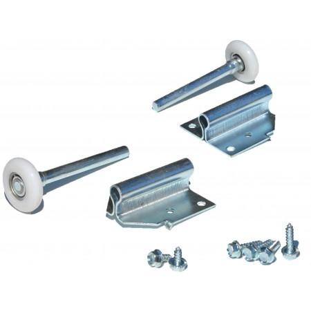Tilt Door Wheel Support + roller + screws (pair)