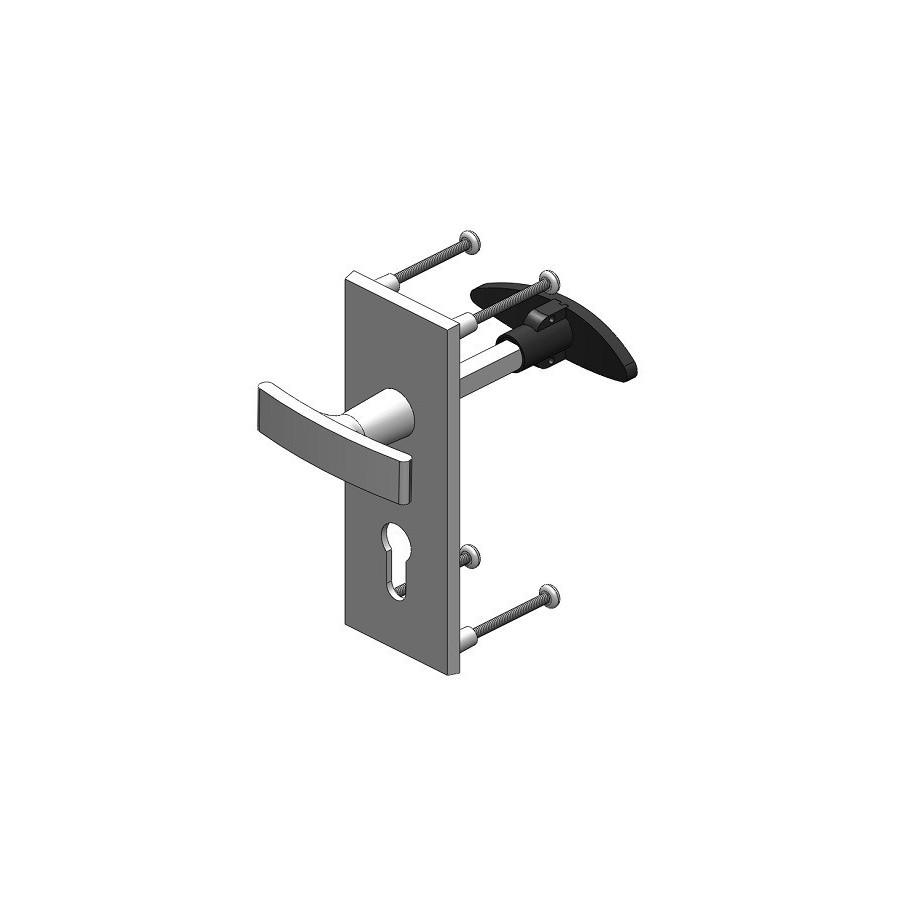 poign e alu serrure de partie fixe de porte basculante. Black Bedroom Furniture Sets. Home Design Ideas