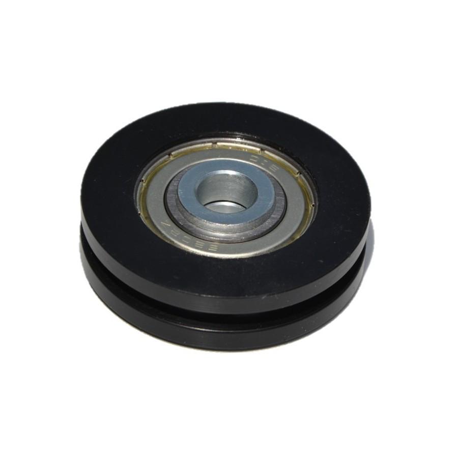 Poulie nylon simple gorge pour porte de garage diam tre 50mm for Porte en acier pour cabanon