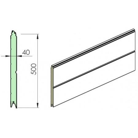 Section ISO40 500mm WOODGRAIN / RAINURE