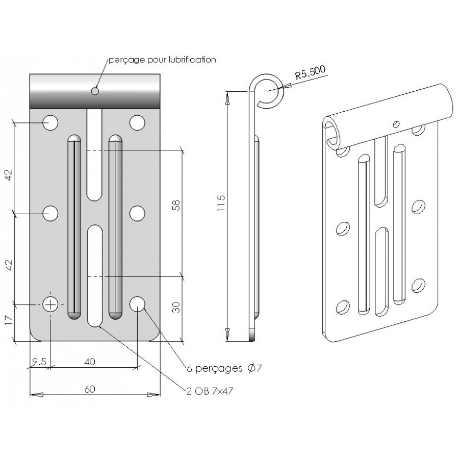 Support roulette haut pour porte de garage sectionnelle - Galet pour porte de garage basculante ...