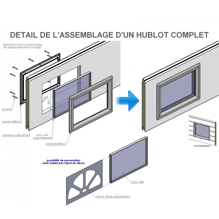 Hublot Rectangulaire Pour Porte De Garage - Hublot pour porte de garage