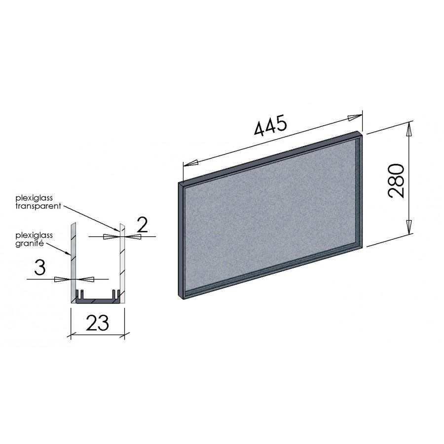 Vitrage rectangulaire pour hublot de porte de garage for Vitre plexiglass castorama