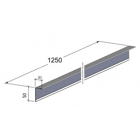 Cornière de finition en acier laqué épaisseur 10/10