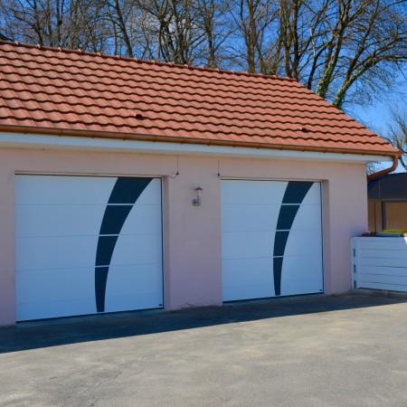 Décoration en acier pour porte de garage