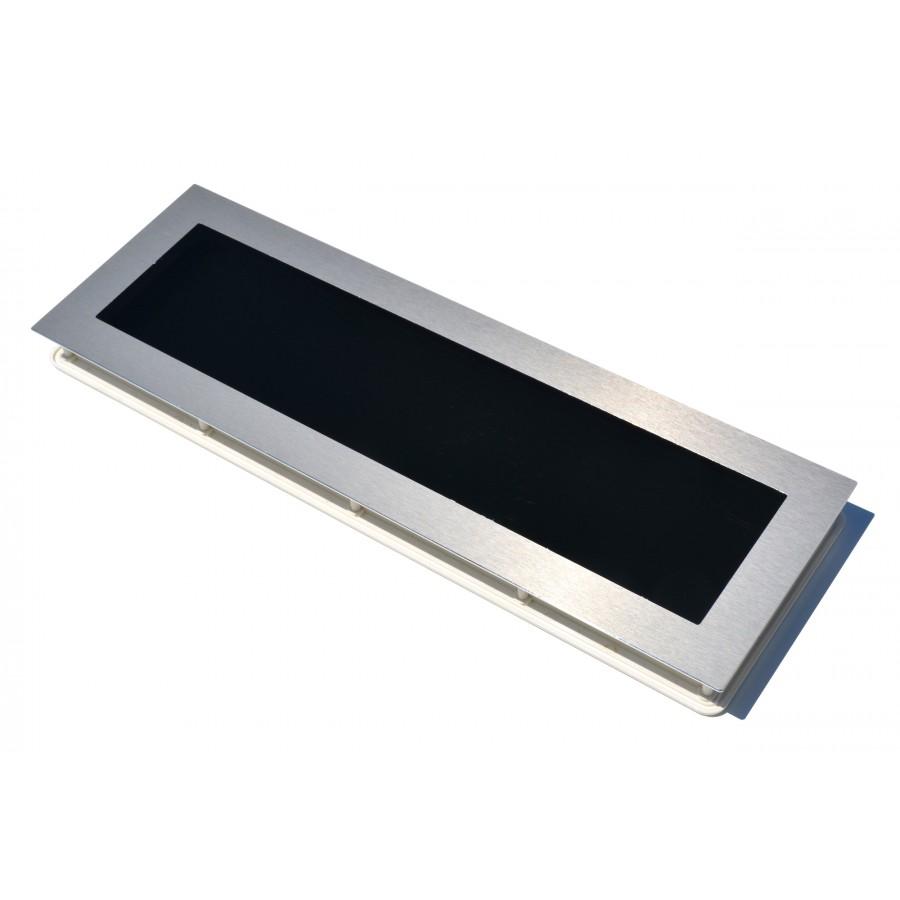 Hublot pour porte de garage en aluminium bross - Hublot de porte interieur ...