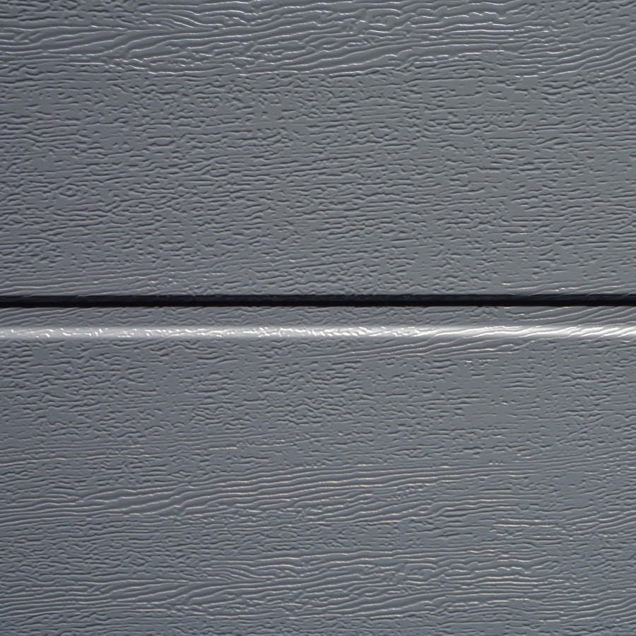 Porte sectionnelle velocia rainure woodgrain gris anthracite motoris e axone spadone - Porte de garage sectionnelle gris anthracite ...