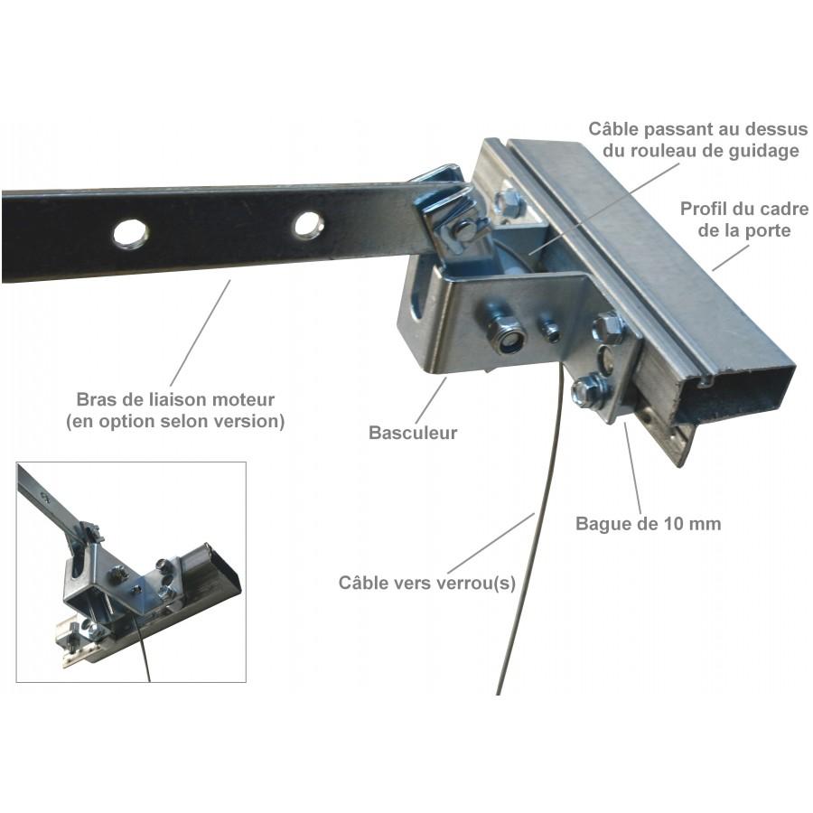 Serrure pour porte de garage basculante motoris e for Mecanisme porte de garage electrique