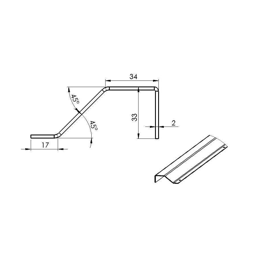 barre de seuil r novation pour sol plat l2500. Black Bedroom Furniture Sets. Home Design Ideas