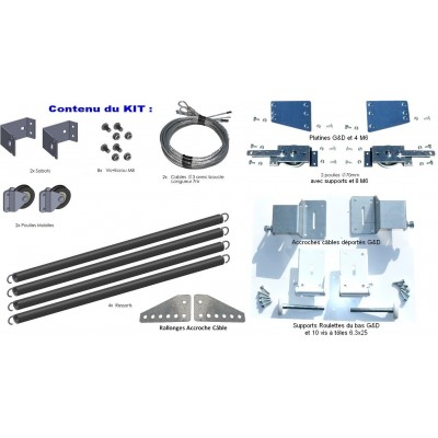 Kit de remplacement ressorts de torsion porte isolée 40mm