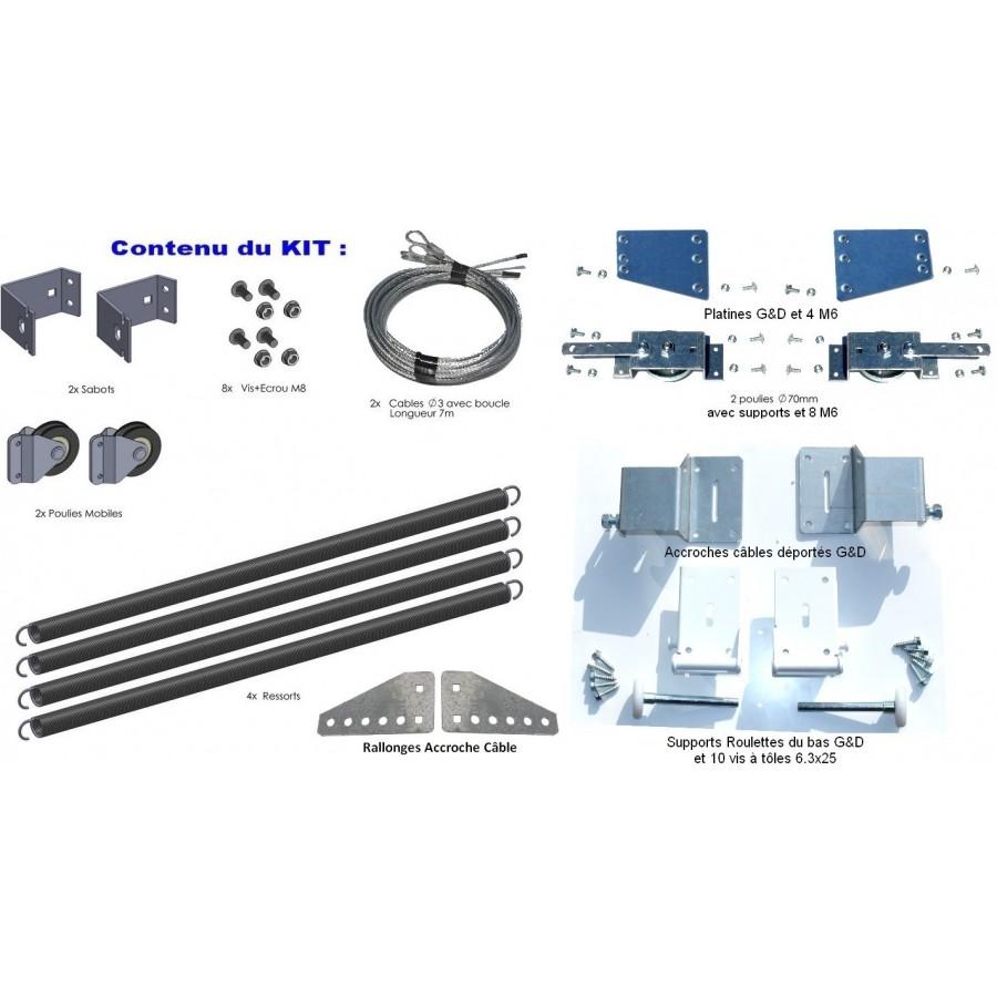 kit de remplacement ressorts de torsion porte isol e 40mm axone spadone. Black Bedroom Furniture Sets. Home Design Ideas