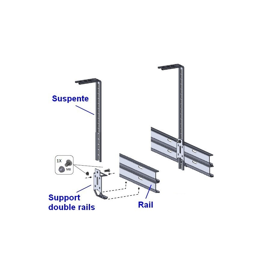 Equerre de suspente pour porte de garage for Porte de garage 60 mm