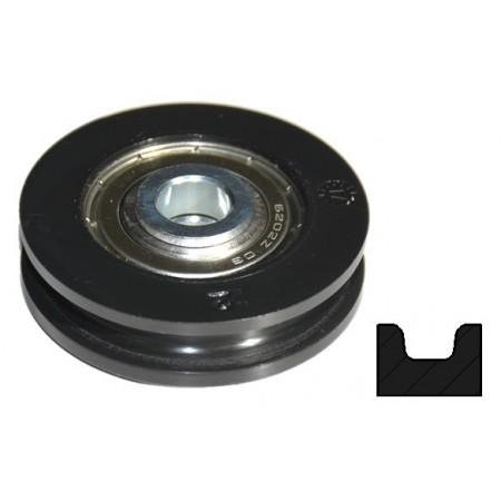 Galet Nylon Diamètre 50mm Porte à déplacement latéral
