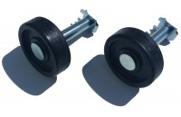 Roulette Diamètre 57mm avec axe (la paire)