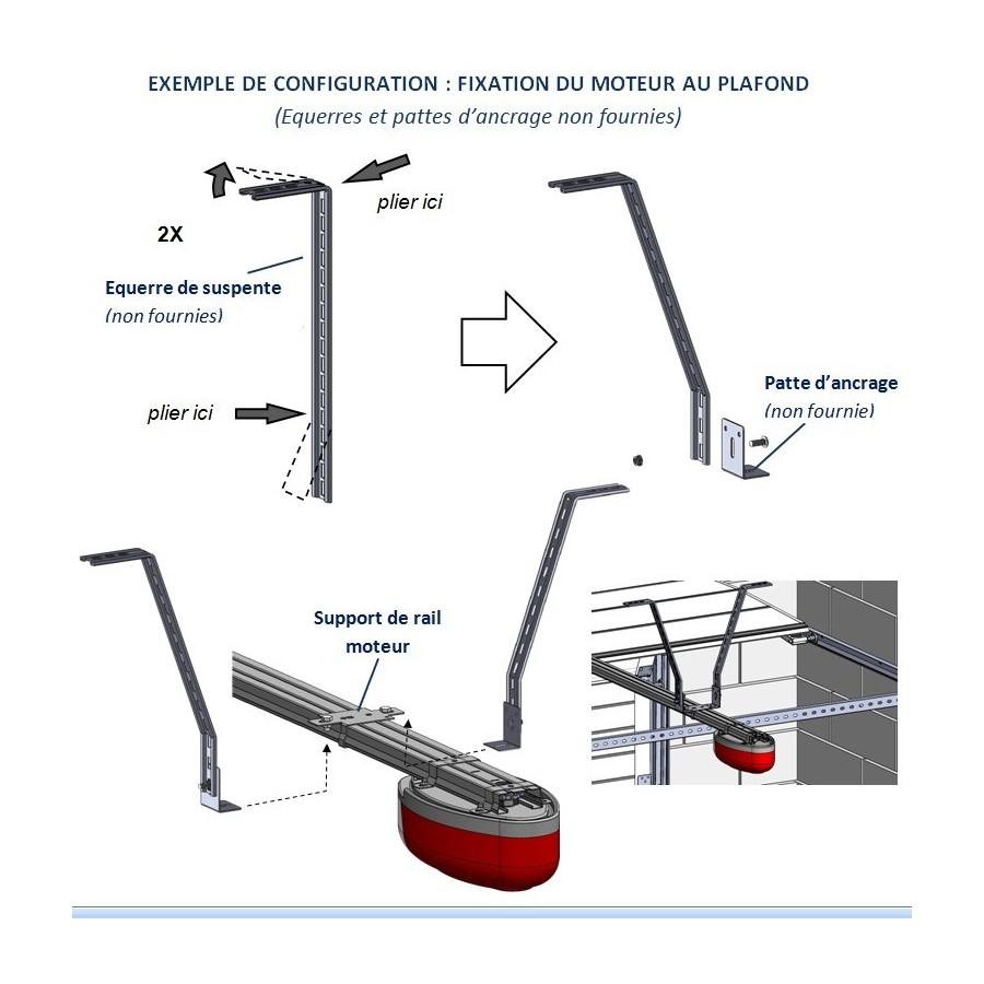 support de rail interm diaire pour moteur one axone spadone. Black Bedroom Furniture Sets. Home Design Ideas
