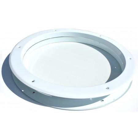 Steel porthole for door