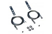 Câbles ajustables porte basculante EURONORM CT  (la paire)