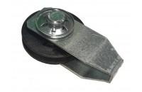 Poulie Mobile PVC EURONORM CT Diamètre 45 mm simple gorge + support