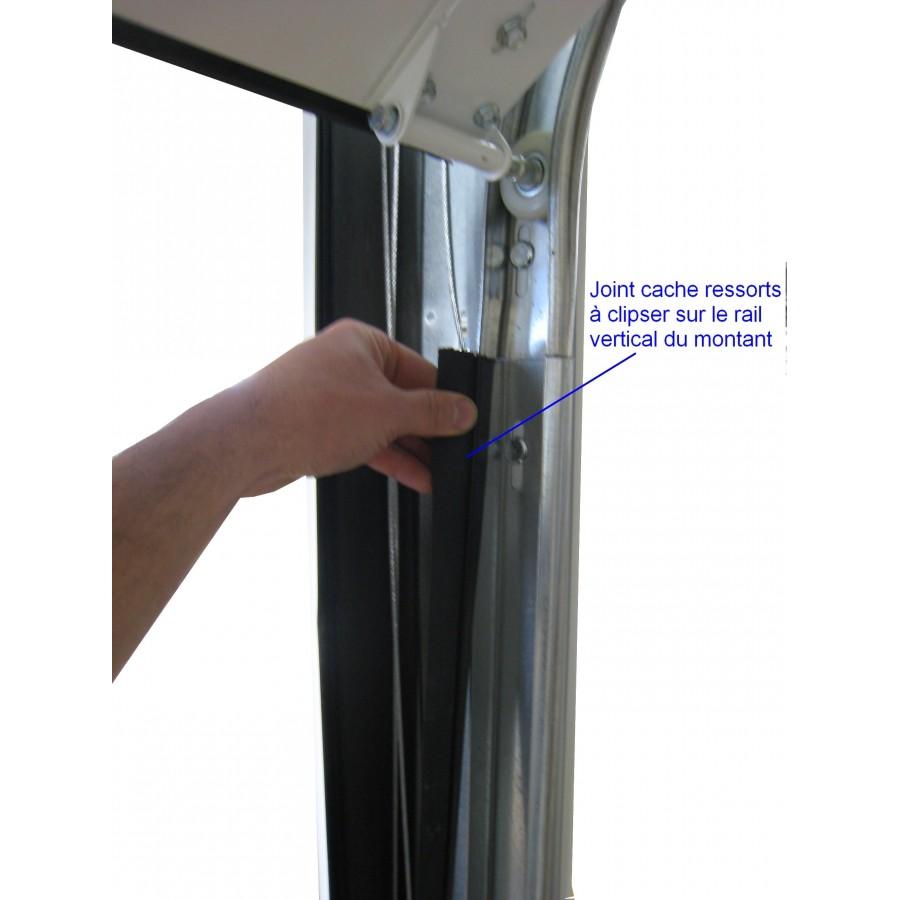 Joint cache ressorts pour montant de porte sectionnelle - Accessoire porte sectionnelle ...