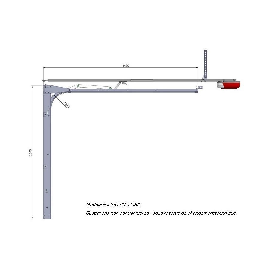 Porte de garage sectionnelle en direct usine - Plan de montage porte de garage sectionnelle ...