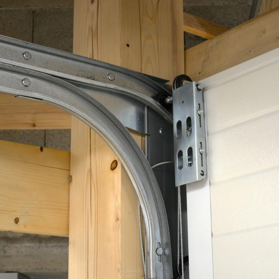 Porte de garage sectionnelle avec portillon pas cher for Porte de garage sectionnelle sans rail
