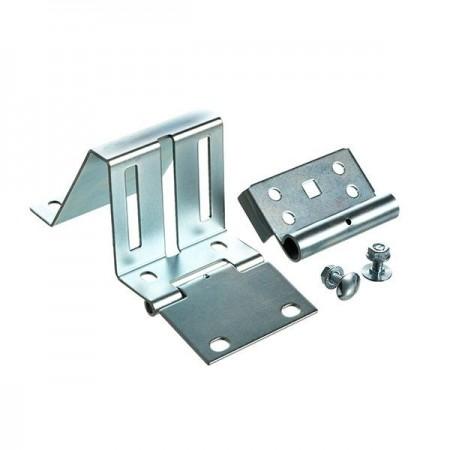 Charniere laterale avec support reglable pour porte industrielle