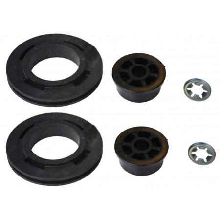 Poulie Fixe PVC EURONORM Diamètre 75 mm + clip (la paire)