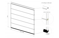 Lot de 5 panneaux POLYGRAIN SANS RAINURE pour remplacement complet du tablier