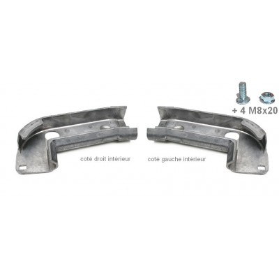 End caps Curved for straight rail (pair)