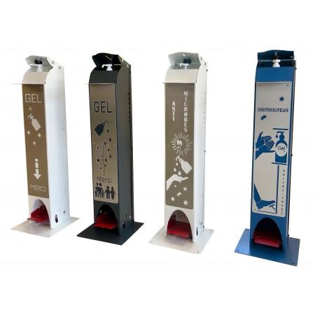 Distributeur de gel hydroalcoolique sans contact sur pied