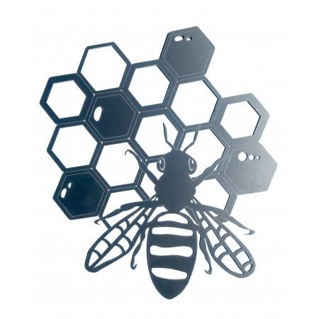 Décors abeilles aluminium découpe laser