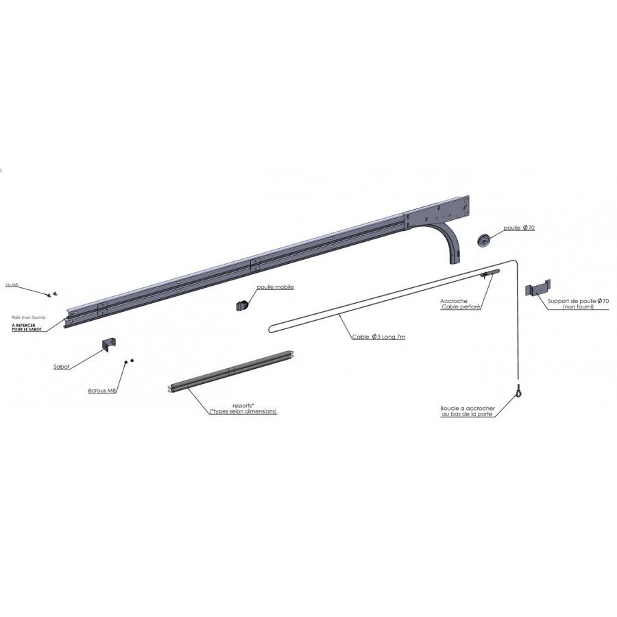 kit d 39 quilibrage pour sectio ress horizontaux porte hauteur sup 2400 axone spadone. Black Bedroom Furniture Sets. Home Design Ideas
