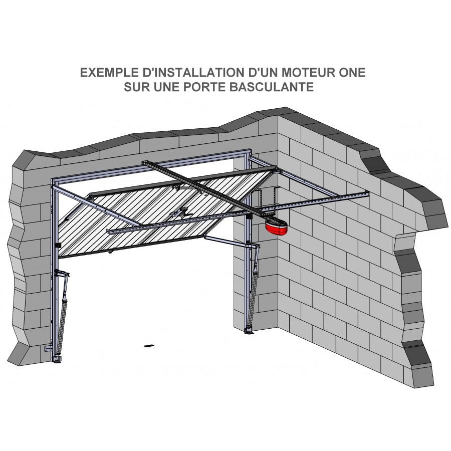 Motorisation pour porte de garage 600 newtons for Installation motorisation porte de garage sectionnelle