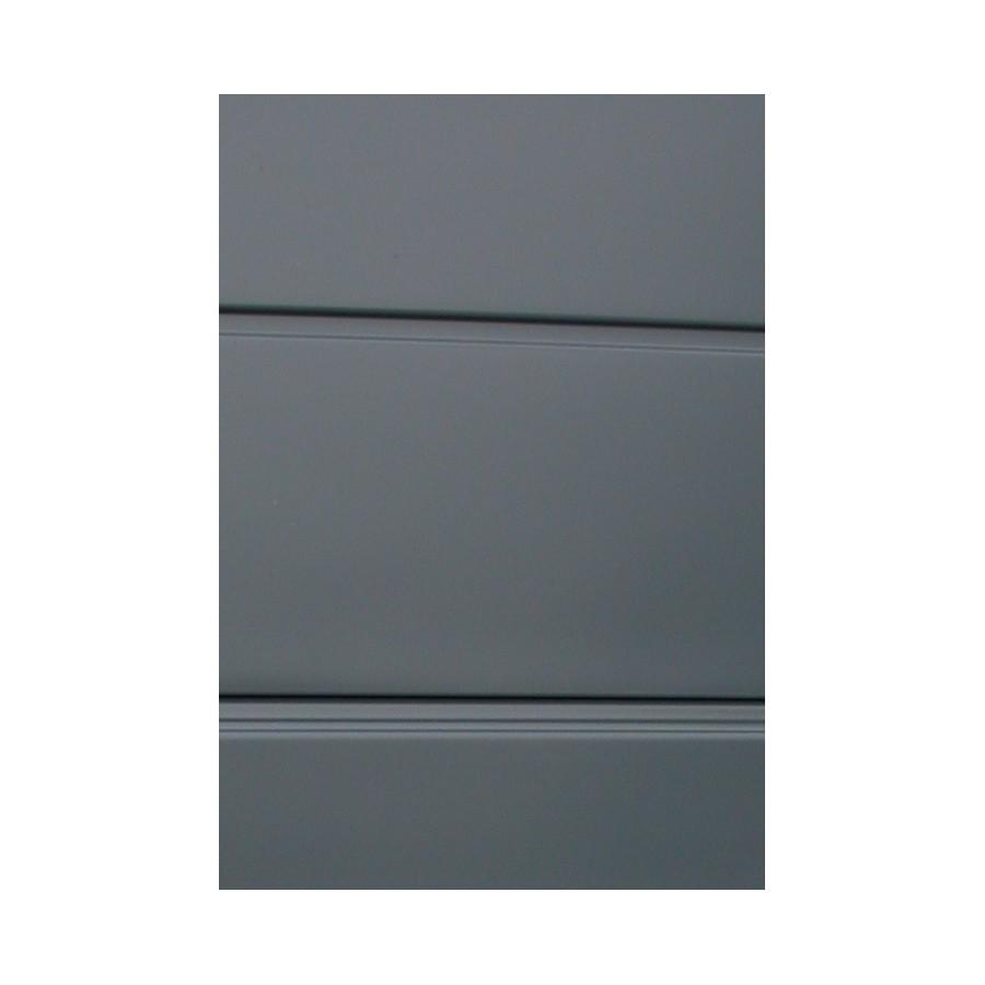 Porte sectionnelle gris anthracite isol e et motoris e - Porte de garage sectionnelle anthracite ...