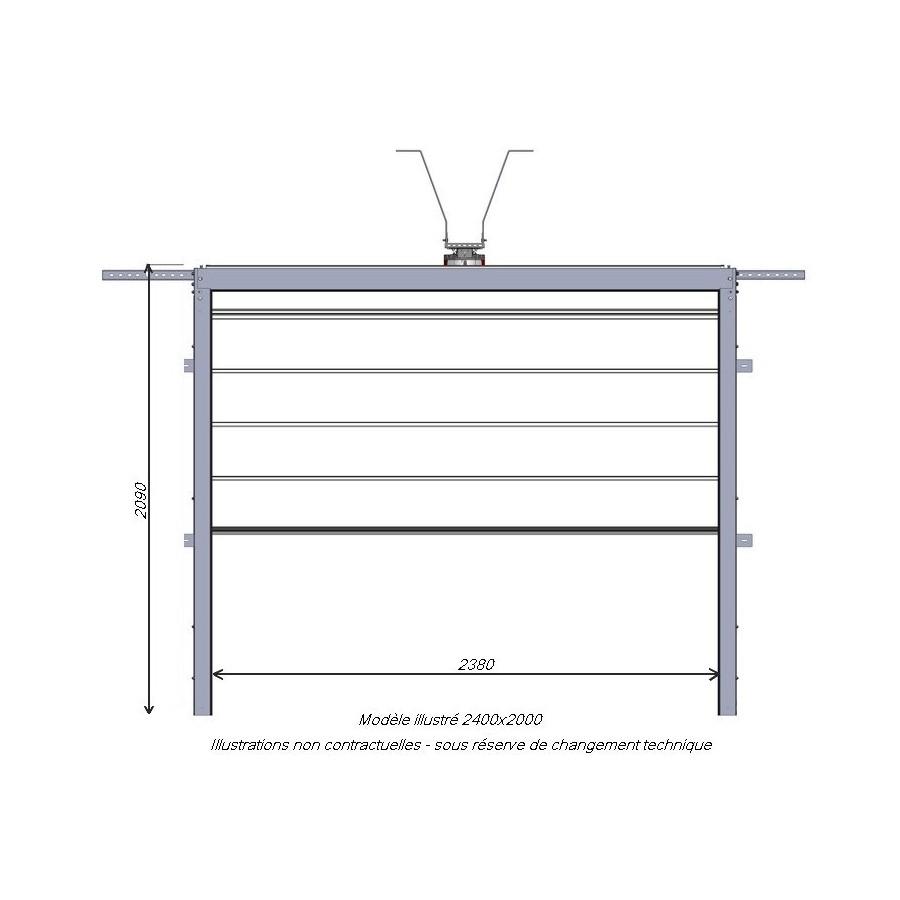 porte sectionnelle gris anthracite isol e et motoris e. Black Bedroom Furniture Sets. Home Design Ideas