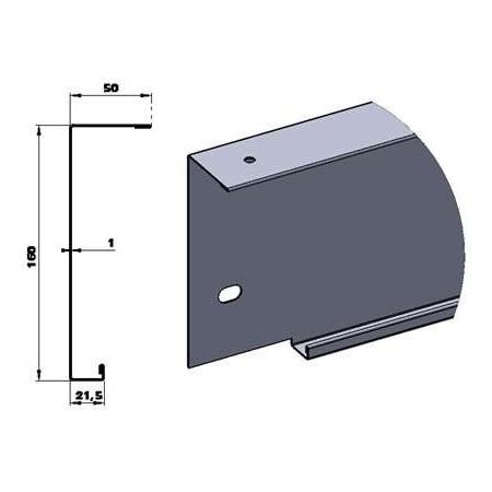 """Traverse Haute Sectionnelle Elargie """"Velette"""" de 160 mm. Porte largeur 2400."""