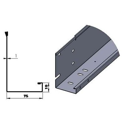 Sectional Door Upright Profile