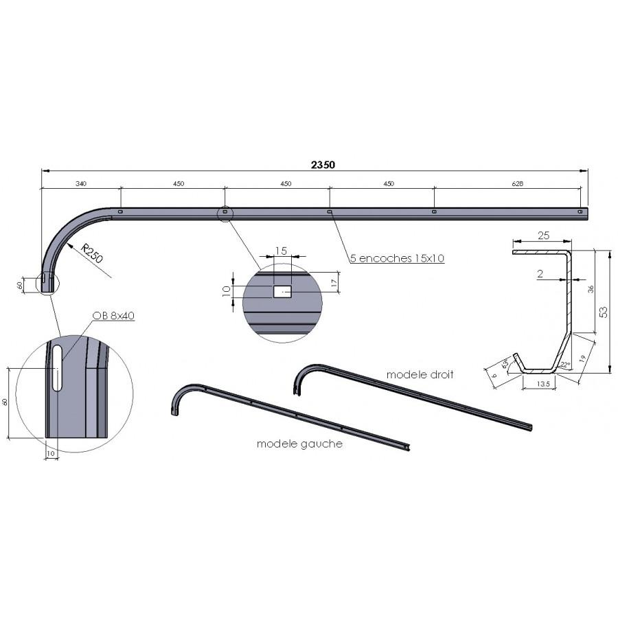 Rail de guidage courbe pour porte de garage sectionnelle - Plan de montage porte de garage sectionnelle ...
