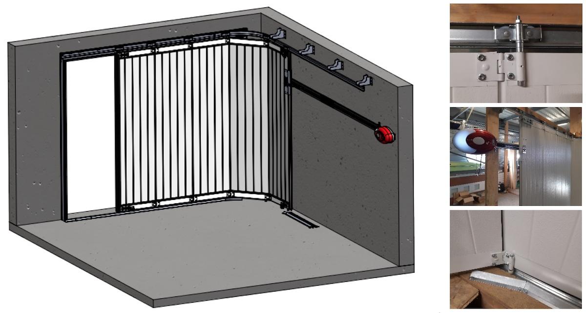 Porte sectionnelle latérale - Axone Spadone Latéra
