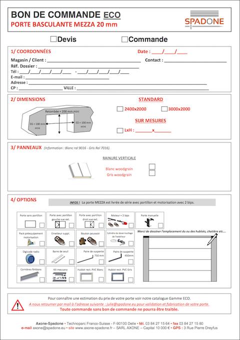 Tarifs portes de garage sectionnelles et basculantes for Porte de garage sectionnelle spadone