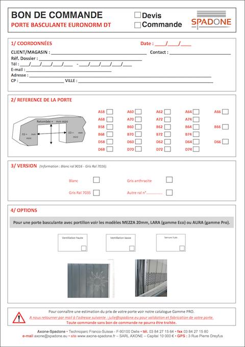 Bestellformulare Metall-Sortiment
