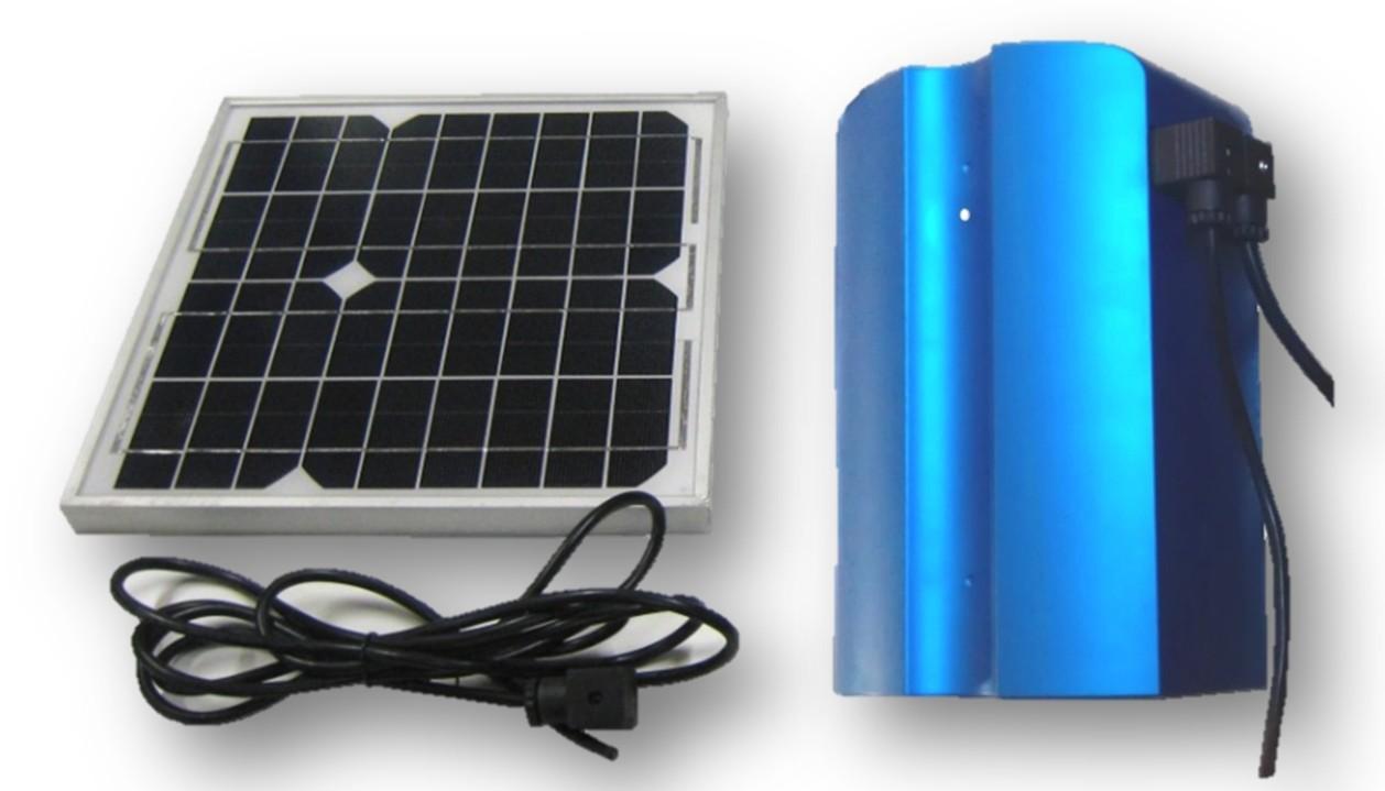 Panneau solaire pour alimenter un moteur de porte de garage