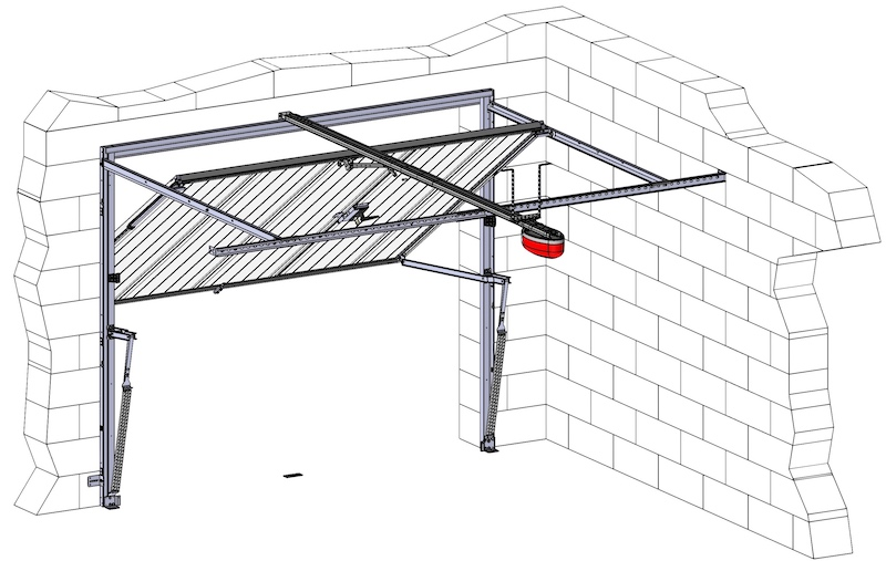 Motorisations pour portes de garage axone spadone for Motorisation pour porte de garage basculante non debordante