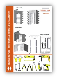 notices de pose portes de garage axone spadone. Black Bedroom Furniture Sets. Home Design Ideas