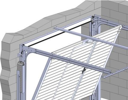 Portes de garage basculantes fiches techniques axone - Porte de garage sectionnelle non motorisee ...